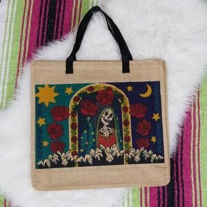 2/$16 Day of the Dead / Halloween Tote Bag